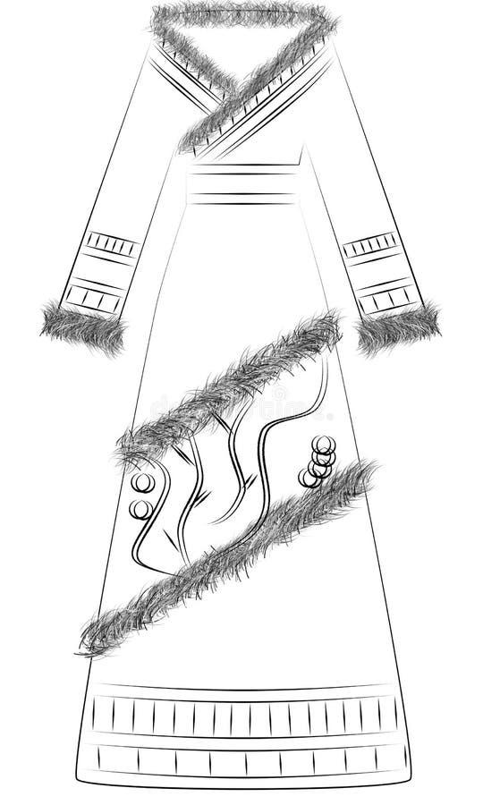 suknia royalty ilustracja