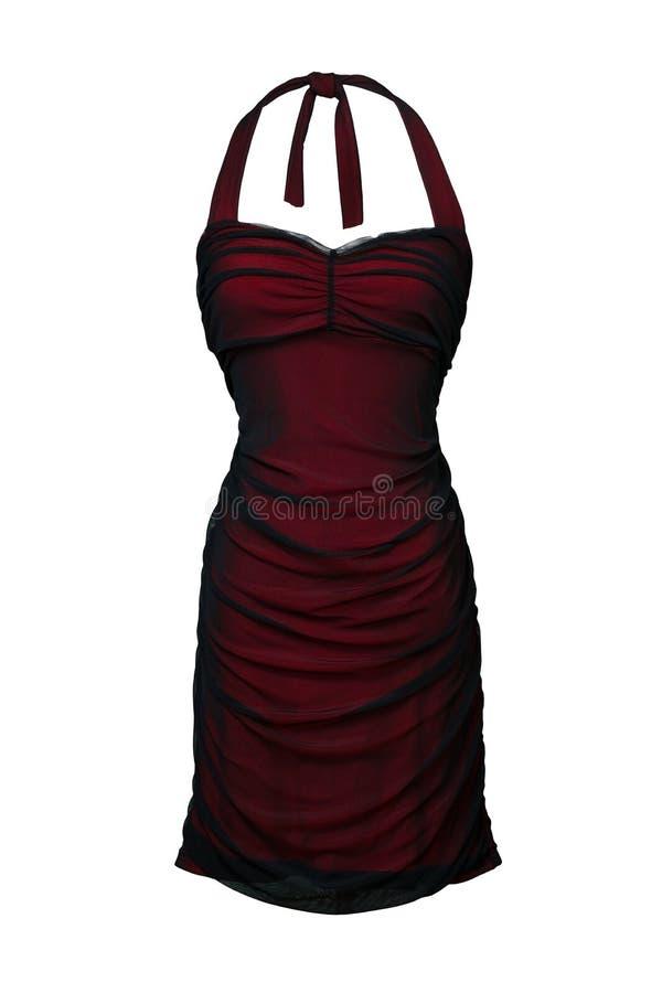 suknia biel odosobniony czerwony zdjęcie royalty free
