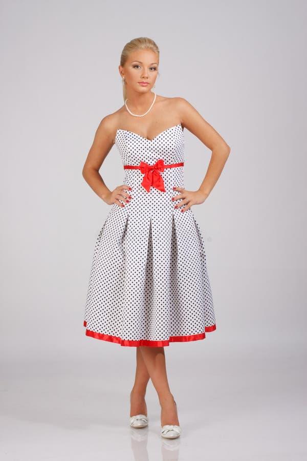 suknia folujący długości rocznik obrazy stock