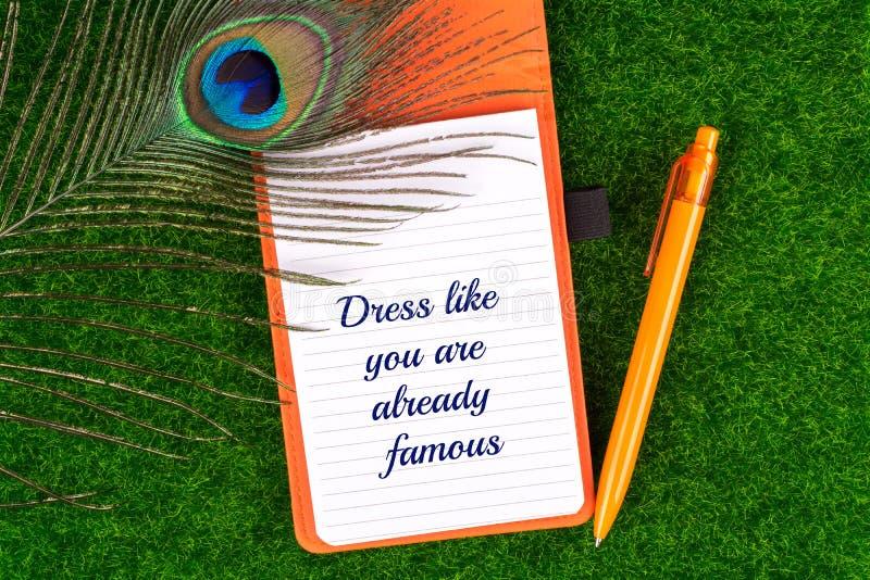 Suknia jak ty jest już sławna obraz stock