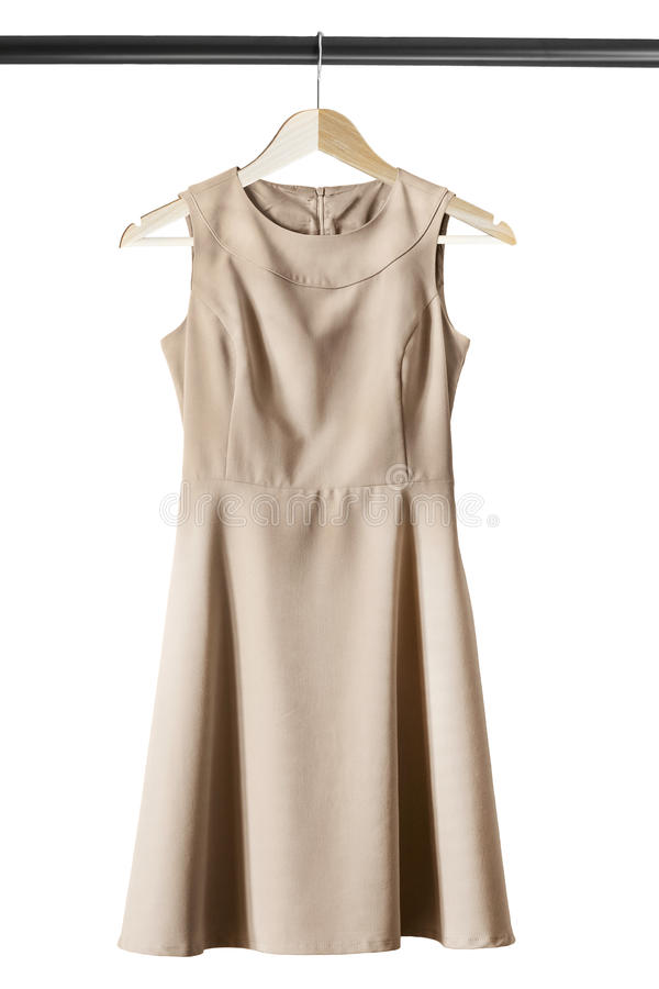 Suknia na ubrania stojaku fotografia stock