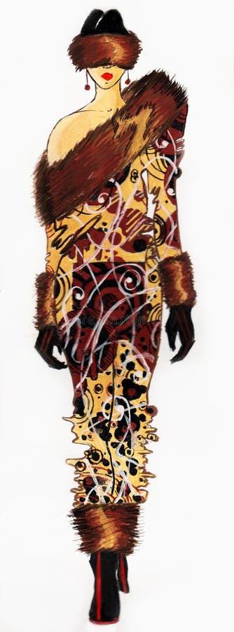 Suknia rysująca w akwareli fotografia royalty free