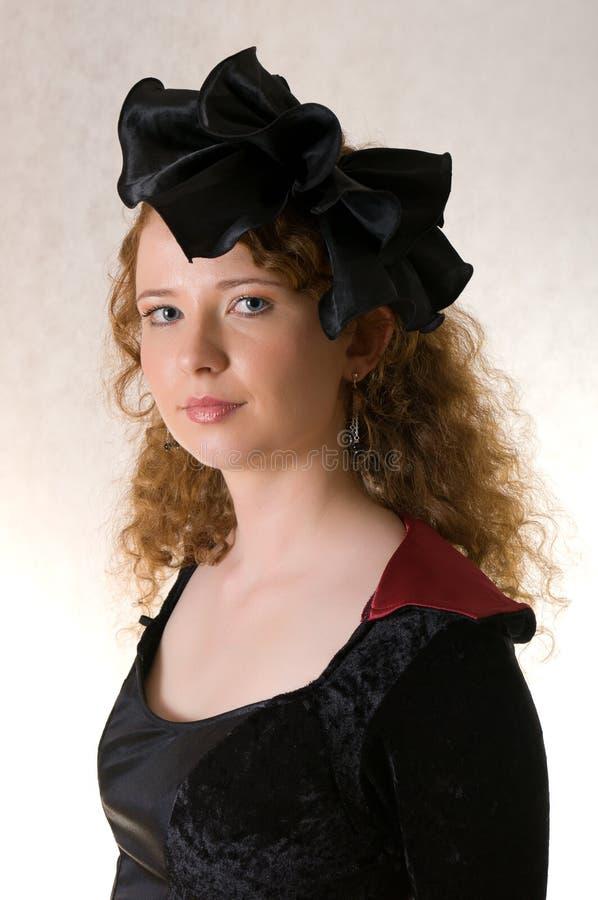 suknia ubierająca fasonująca stara kobieta fotografia stock