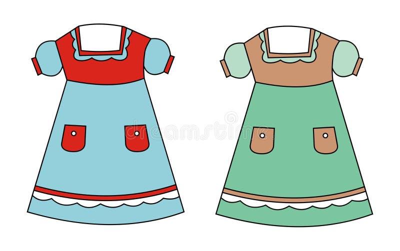 suknie dwa ilustracja wektor