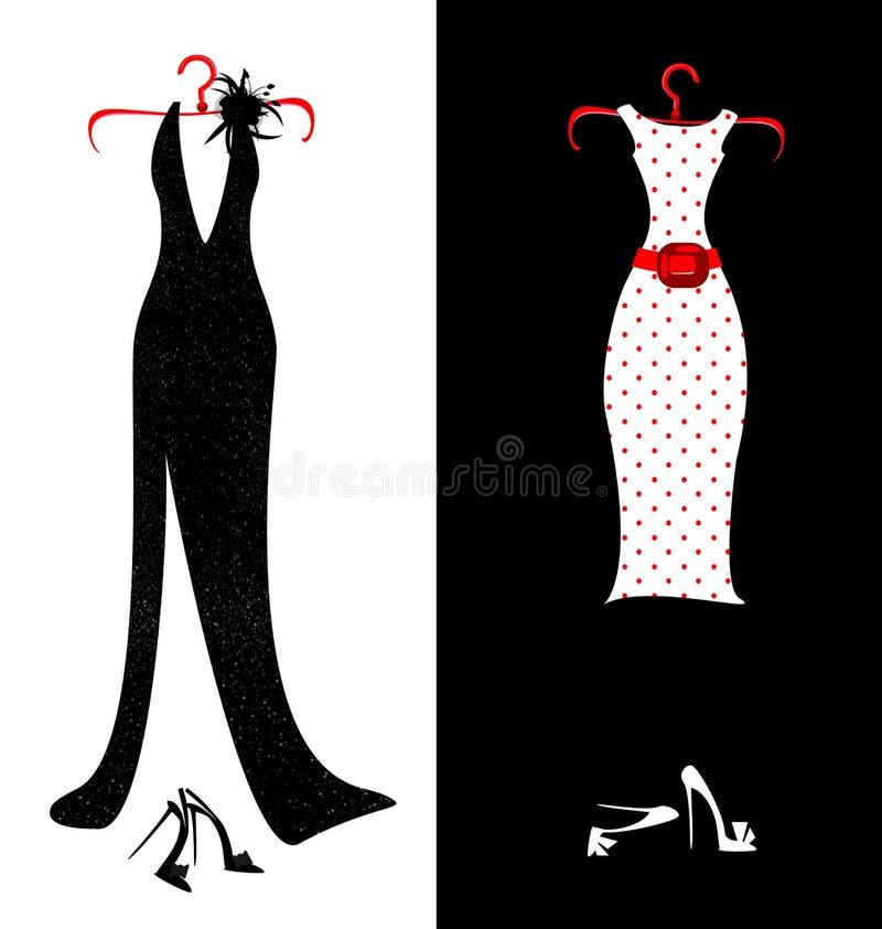 Suknie i buty royalty ilustracja