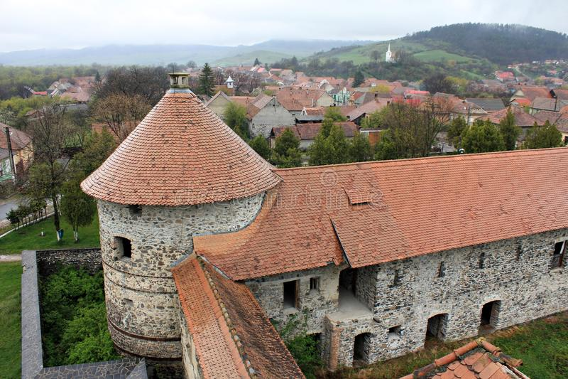 Sukosd-Bethlen slott i Racos, Transylvania arkivbilder