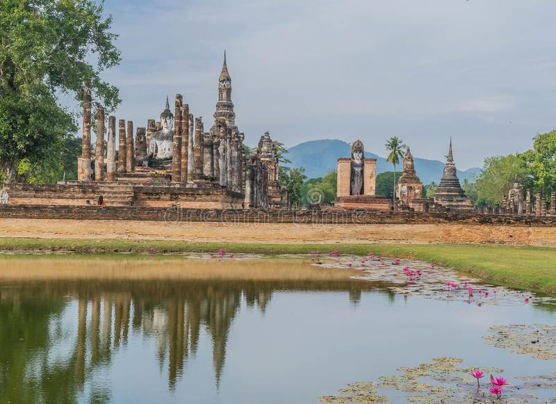 Sukothai Historical Park used to be the capital of Thailand. royalty free stock image
