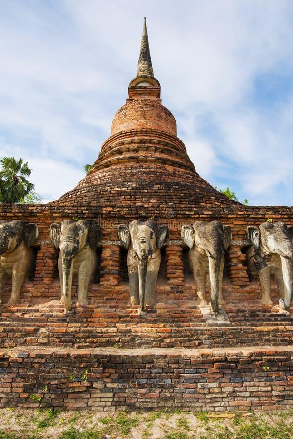Sukothai historical park, Unesco world heritage. Chang Rop Temple ,Thailand stock images