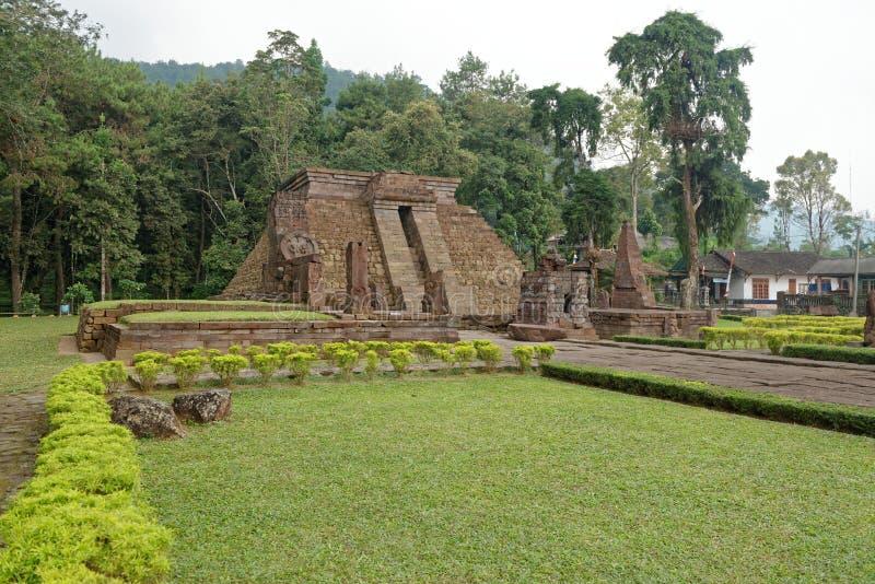 Sukuh寺庙在中爪哇省 免版税图库摄影