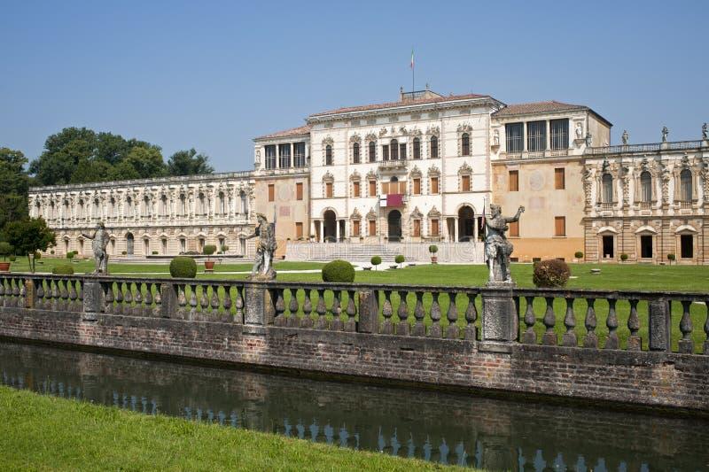 Sul Brenta de Piazzola (Italy), casa de campo Contarini imagens de stock