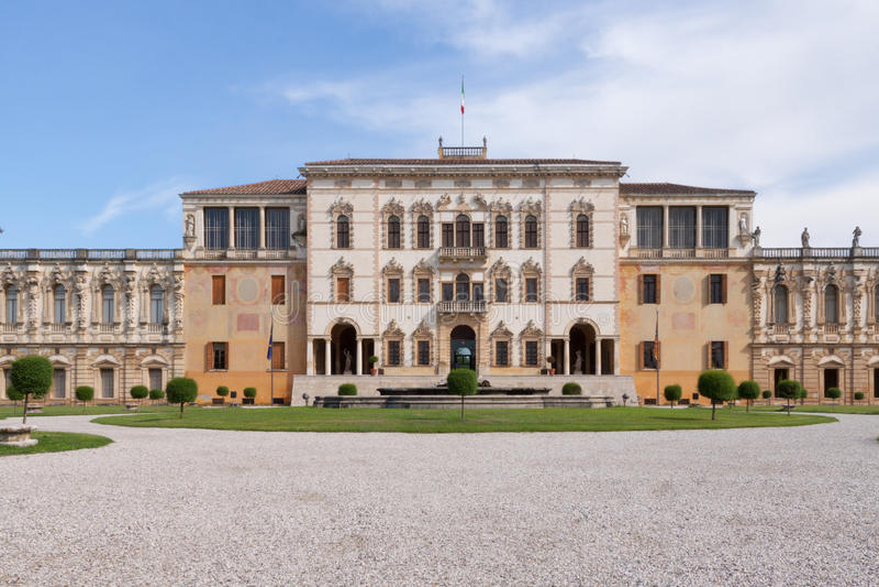 Sul Brenta (Padova, Veneto, Italia) di Piazzola, villa Contarini, ciao immagine stock