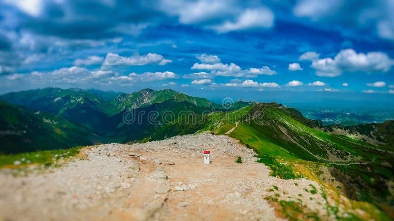Sul confine, Tatras occidentale fotografia stock libera da diritti