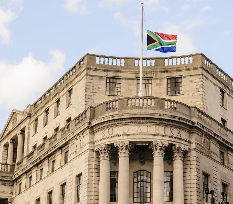 Sul - embaixada africana em Londres fotografia de stock