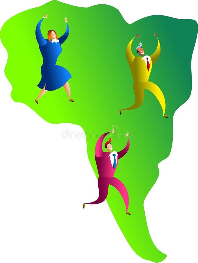 Sul - equipe americana ilustração royalty free