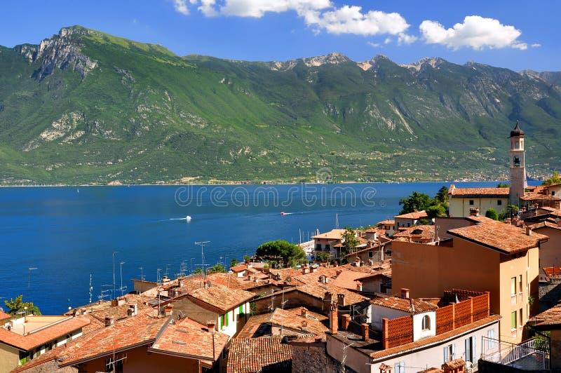 Sul Garda, Lake Lago di Garda de Limone images libres de droits