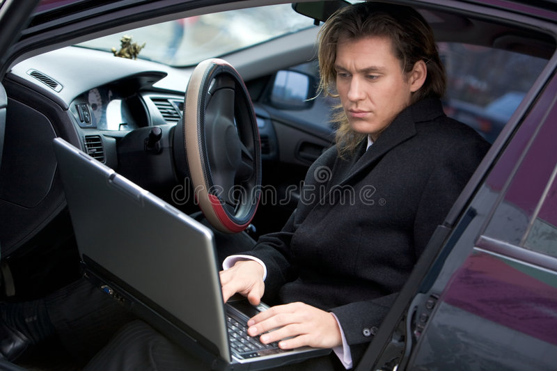 Download Sul lavoro fotografia stock. Immagine di commercio, maschio - 7319722