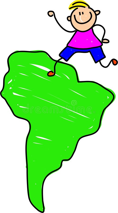 Sul - miúdo americano ilustração royalty free