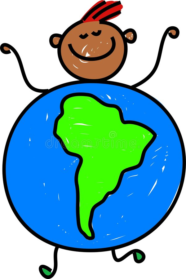 Sul - miúdo americano ilustração stock