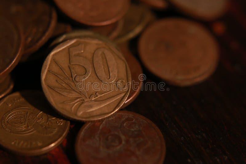 Sul - moeda africana da moeda fotos de stock