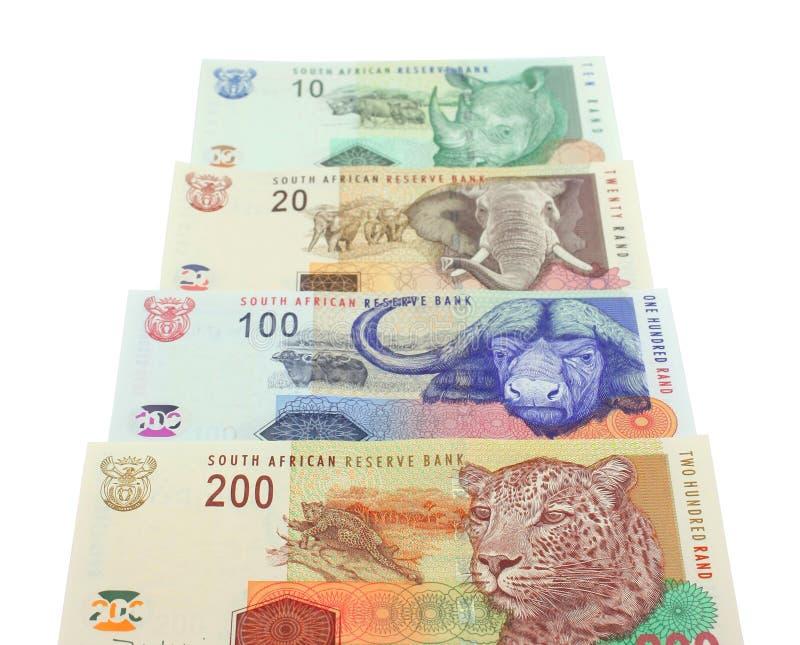 Sul - notas africanas do dinheiro imagens de stock royalty free