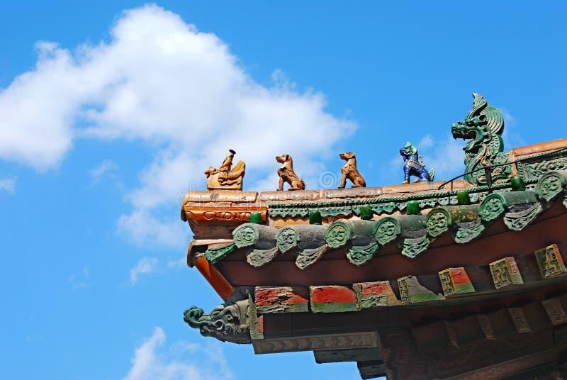 Sul palazzo di Qing di intagli immagine stock libera da diritti