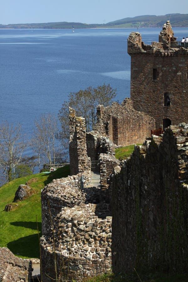 Sul puntello di Loch Ness fotografia stock