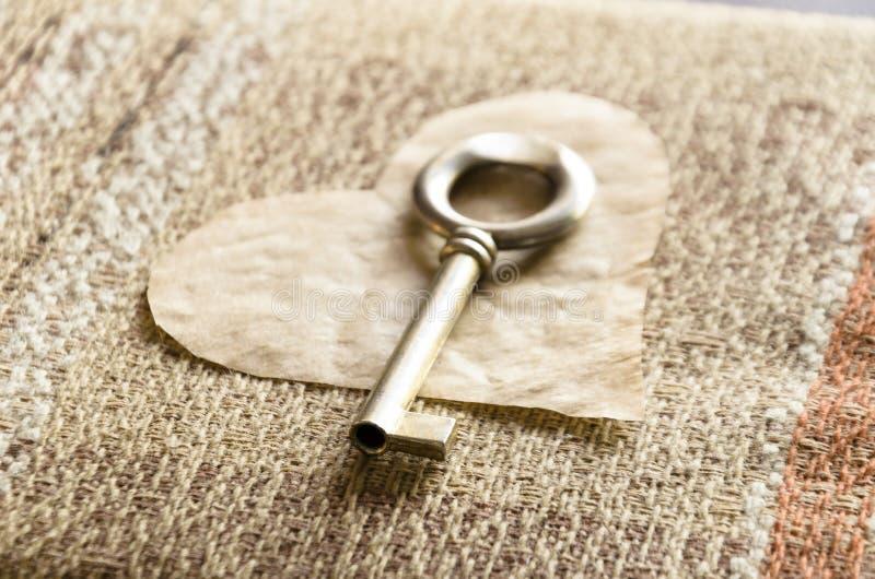 Sul San Valentino ottenete una chiave al mio cuore fotografia stock