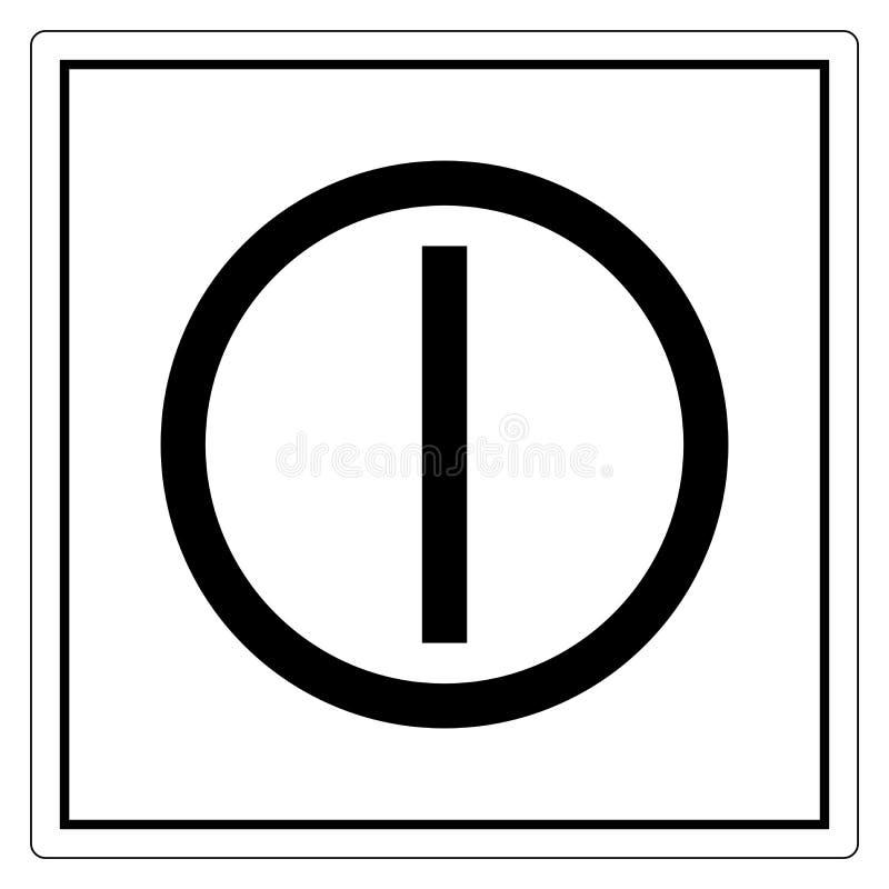 Sul segno fuori a pulsante di simbolo, illustrazione di vettore, isolato sull'etichetta bianca del fondo EPS10 illustrazione vettoriale