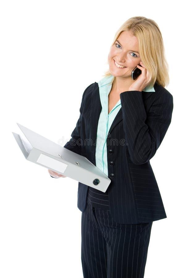 Sul telefono con gli archivi immagini stock