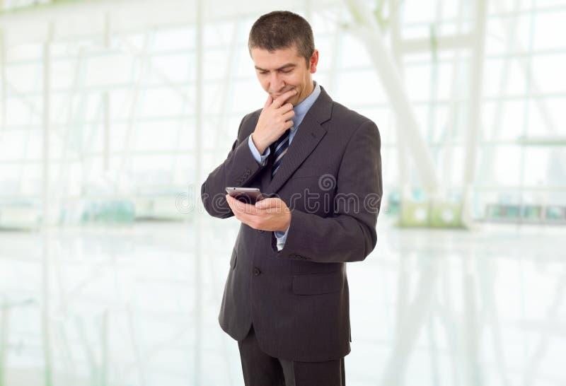 Sul telefono immagini stock
