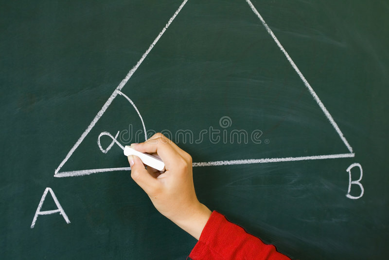 Sul triangolo della tabella immagini stock libere da diritti