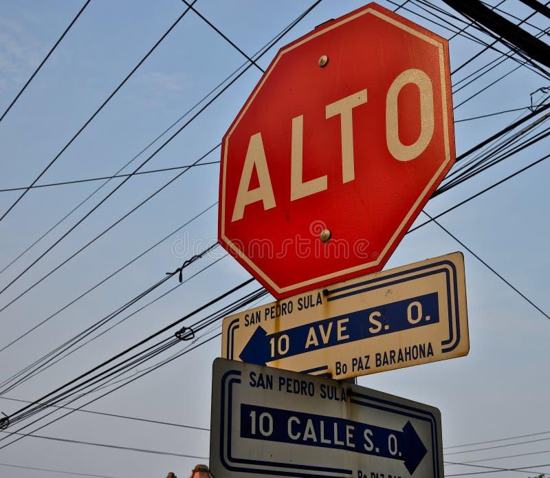 Sula del San Pedro l'honduras immagini stock