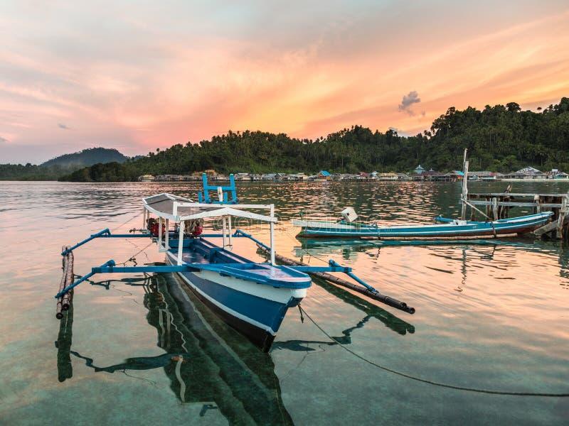 Sulawesi traditionele boot royalty-vrije stock afbeeldingen