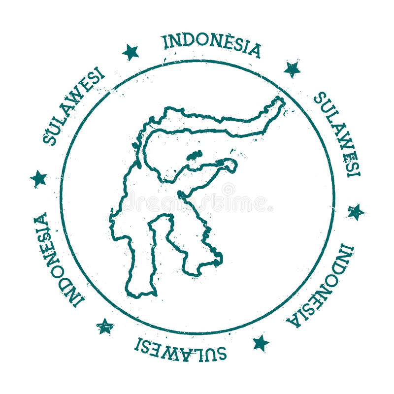 Sulawesi vector map stock vector Illustration of indonesia 93381782