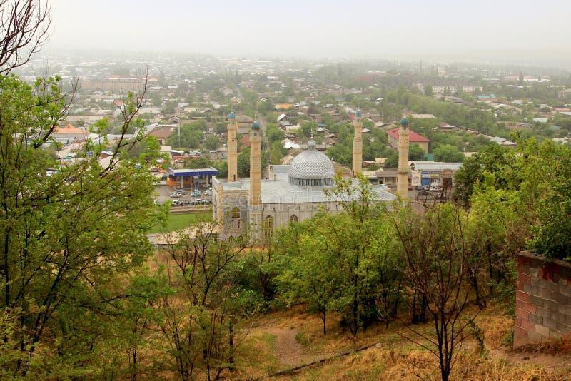 Sulayman мечеть слишком в городе Osh, Кыргызстане стоковое фото rf