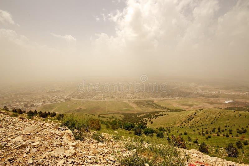 Sulaymaniyah in de autonome provincie van Koerdistan van Irak stock fotografie