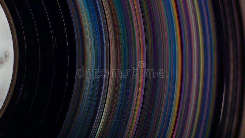 Sulcos do registro de LP imagem de stock