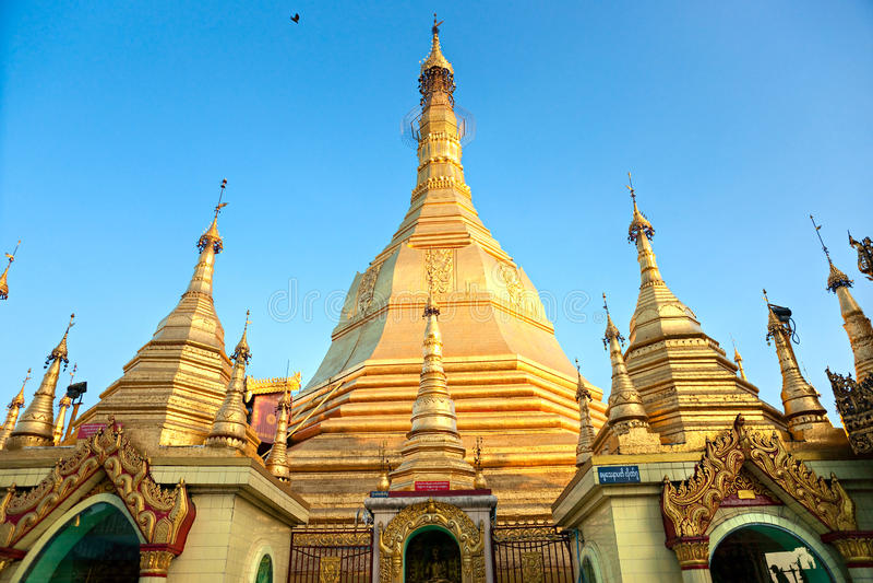 Sule Pagoda, Yangon, Myanmar. royalty free stock photo