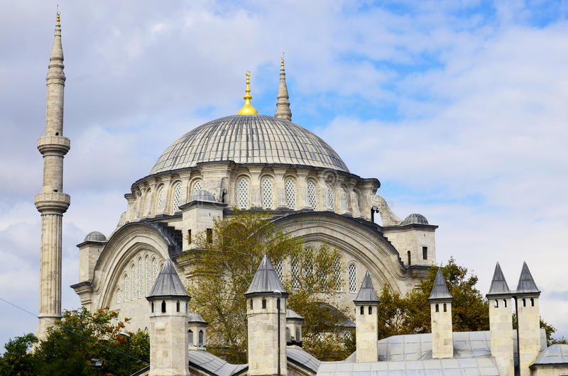 The Suleiman Mosque stock image