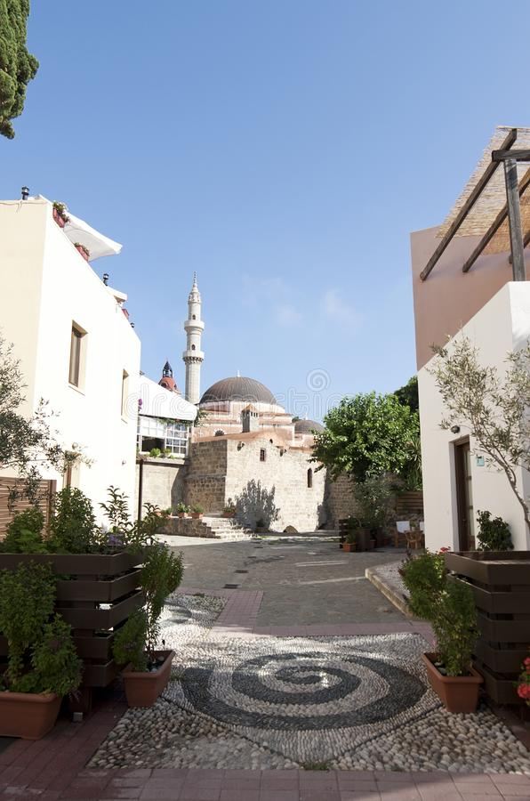 Suleiman Mosque in Rhodes royalty free stock photos