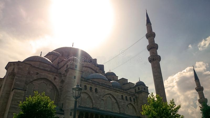 suleyman moskee stock foto