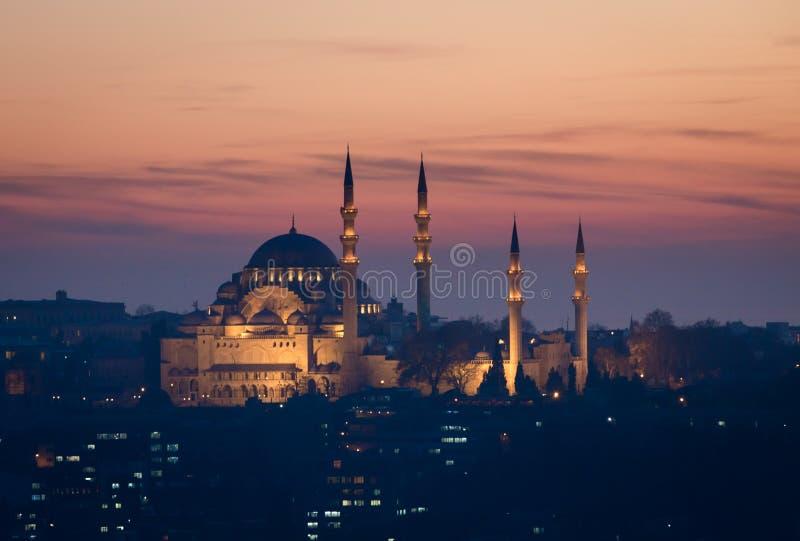 Suleymaniemoskee Istanboel royalty-vrije stock fotografie