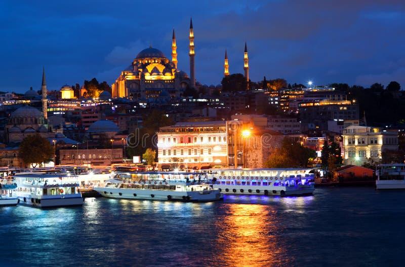 Suleymaniemoskee in Istanboel, Turkije stock foto's