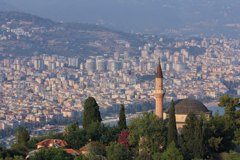 Suleymaniye清真寺在阿拉尼亚,土耳其 库存图片
