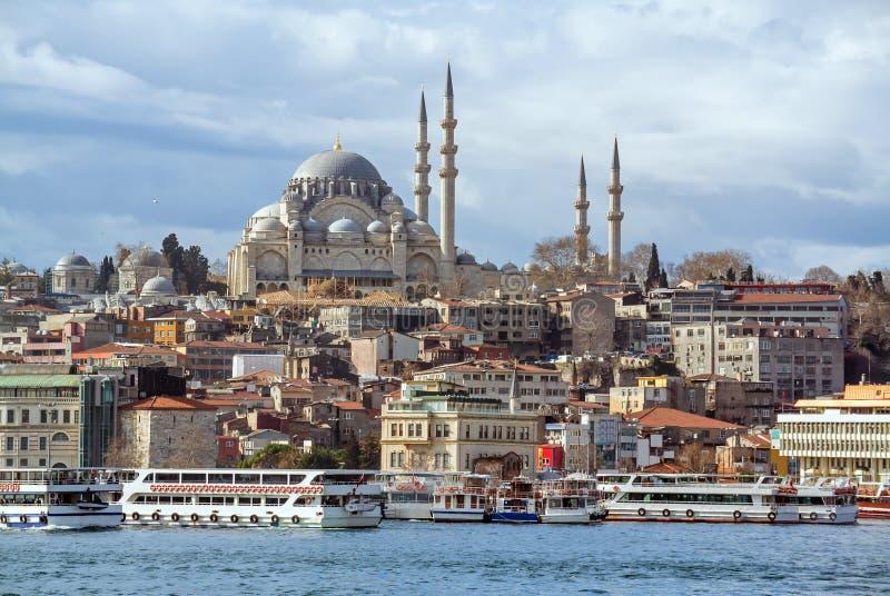 Suleymaniye meczet w Istanbuł Turcja zdjęcie royalty free