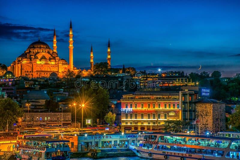 Suleymaniye Meczetowy Istanbuł Turcja obrazy royalty free