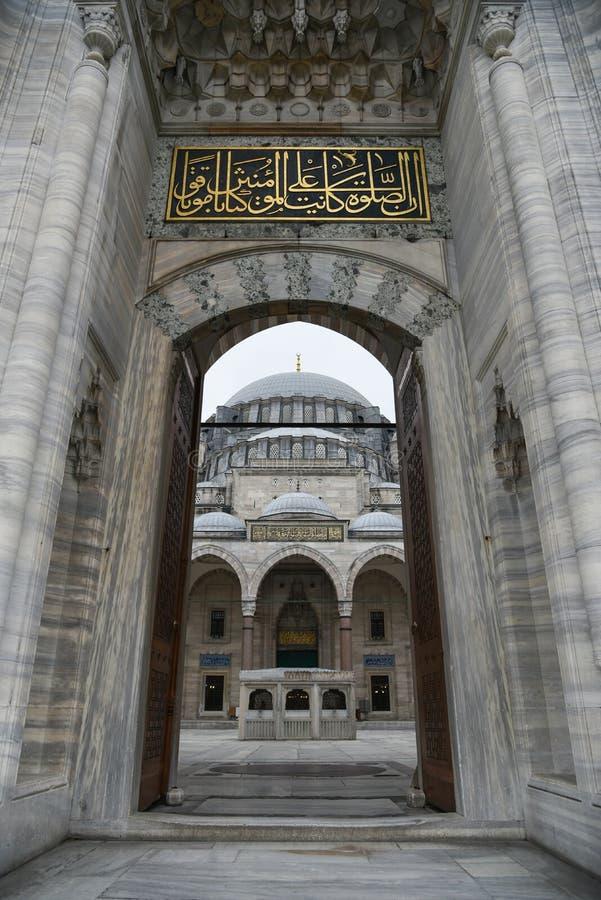 Suleymaniye meczetu główne wejście zdjęcie stock