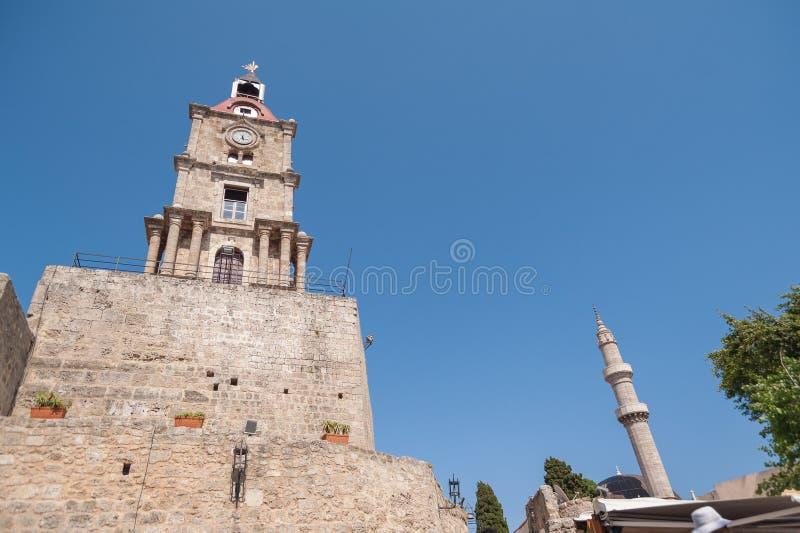 Suleymaniye Moschee Rhodos, alte Stadt, Insel von Rhodos, Griechenland, Europa stockfotos