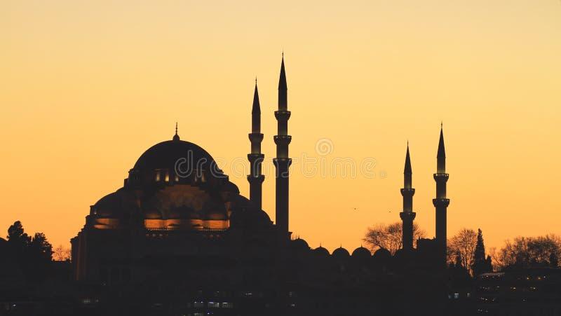 Suleymaniye moské, Istanbul arkivbild