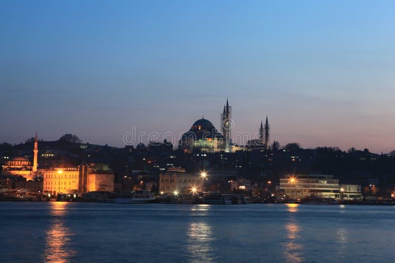 Download Suleymaniye Mosque stock photo. Image of minaret, lights - 22210166